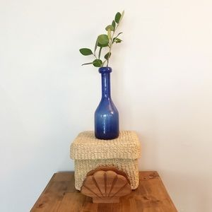 Hand Blown Royal Blue Glass Vase